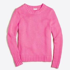 cozy J.Crew neon pink crew neck sweater M